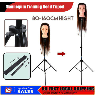 Adjust Tripod Stand Hairdressing Training Mannequin Manikin Head Holder + Bag AU