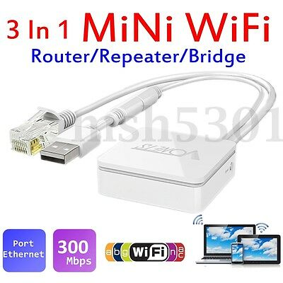 VONETS VAR11N-300 300Mbps Wi-Fi To Ethernet Wireless Repeater AP Bridge Router