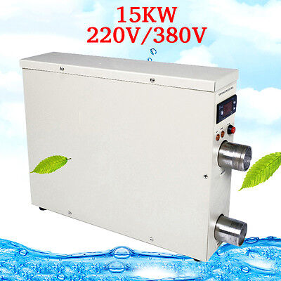 15KW 220V/380V Swimming Pool Fantastic Hot Tub Electric Thermostat Heaters FS945