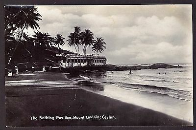 Postcard Ceylon Real Photograph (No 71) Bathing Pavilion 1930's Made in Germany.