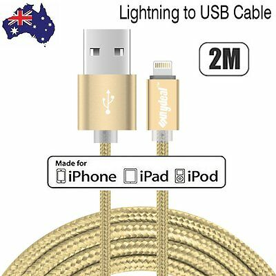 2M USB Lightning Data Charger Cable Cord for Apple iPhone 7 6 6S 5