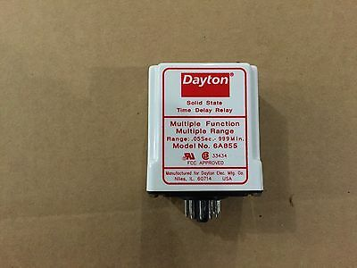 Dayton 6A855 Solid State Time Delay Multiple Function Relay 0.01 sec - 999 min
