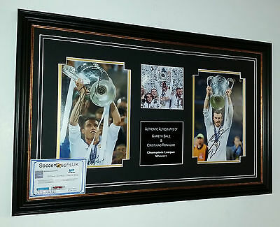 ** NEW  Cristiano Ronaldo and Gareth Bale Signed PHOTO Picture Display ***