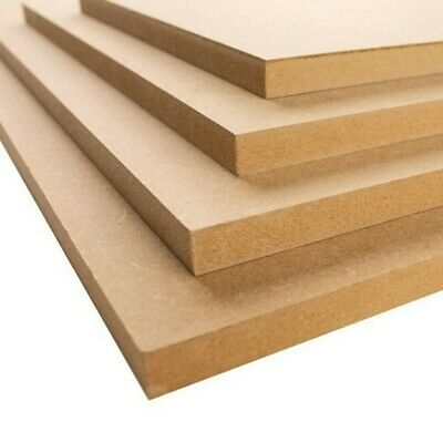 MDF Sheets Boards shelving cupbaords hobbies crafts 2mm - 25mm 10 x thicknesses