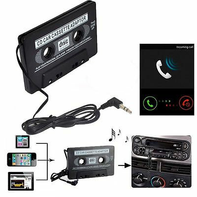 Car Cable Connector Stereo Cassette Tape Adapter Audio Converter CD Player