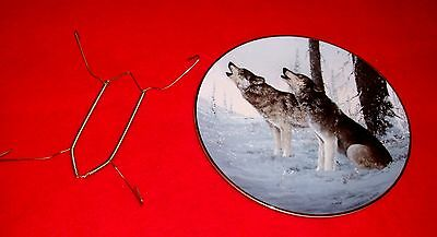 "1991 Princeton Arctic Majesty 8"" Plate CRY OF THE WILD Van Zyle Alaska Wolf"