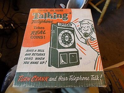 Ideal's Talking Telephone Coin Bank in original box  1950's