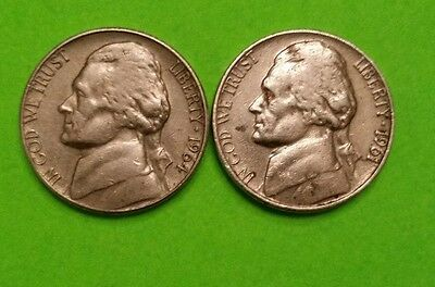 United States, 1961, 1964  5 Cent, ~Nickel ~Nice Examples-Collectable