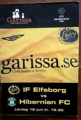 If Elfsborg V Hibs 12/6/2008 Uefa Intertoto Cup
