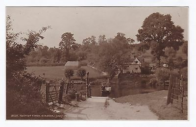 P3431 Original old RP postcard of Hampton Ferry, Evesham, Worcestershire