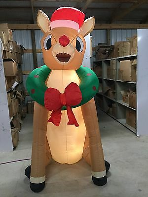 9ft Gemmy Airblown Inflatable Christmas Rudolph Prototype