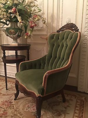 Antique Victorian, French Side Chair, Circa 1890.....beautiful Mahogany Carving