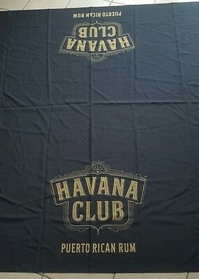 Havana Club Puerto Rico Rum Black Tablecloth Bar Man Cave 68 x 87
