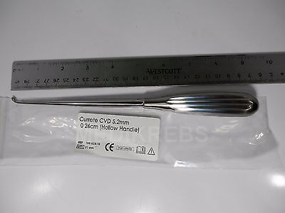 "SPRATT BRUN BONE CURETTES CVD 9"" Sz 0 German Steel KREBS"