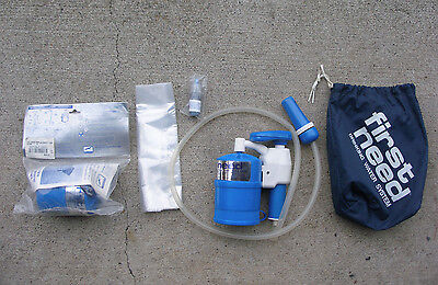 First Need Deluxe backpacking water purifier filter + extra NEW FILTER
