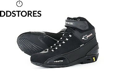 V Quattro Design Chaussure de Moto Supersport Waterproof Noir 44