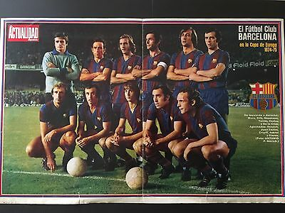 1974-1975 European Cup.Round of 16.FC Barcelona- SC Feyenoord.Poster- Programme