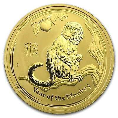 2016 Australia Lunar Year Of The Monkey 1/10 Oz Gold Coin