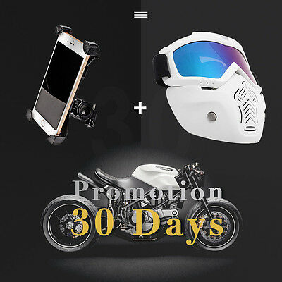 Free Phone Holder + Off-Road Motocross KTM Motorcycle Goggles Eyewear Lens Ski