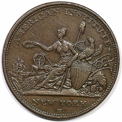 1833 Low-76 HT-153 American Institute Hard Times Token