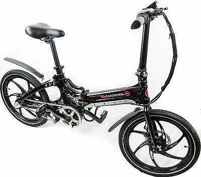 ECDA compact foldable pedal assisted electric bicycle - easy and safe driving