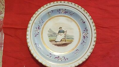 A Welsh or English 19th century porcelain plate