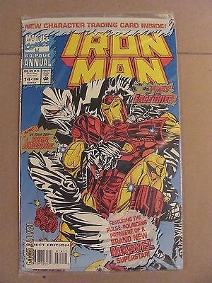 Iron Man Annual #14 Marvel 1993 Sealed in bag with Trading Card 9.2 Near Mint-