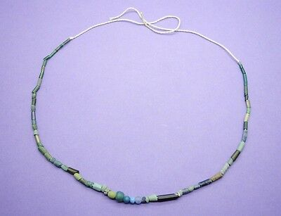 Ancient Romano Egyptian glass bead necklace 1st century AD