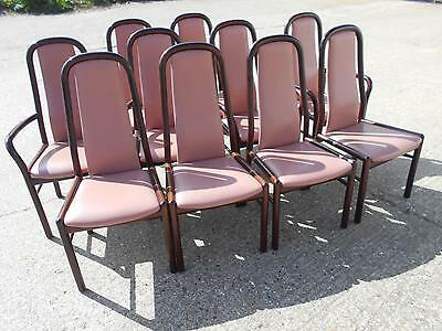 Set of Ten Danish Mid-Century Modern Rosewood Dining Chairs by Boltinge