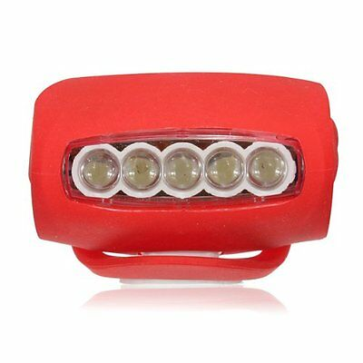 AF Silicone Bike Bicycle Rear Wheel LED Flash Light Red (7 LED)