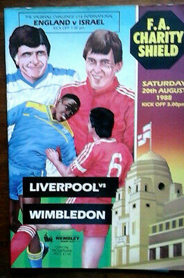Liverpool V Wimbledon 20/8/1988 Charity Shield