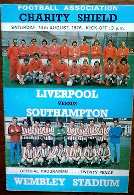 Liverpool V Southampton 14/8/1976 Charity Shield