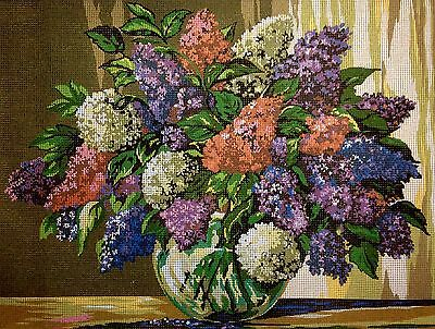 "Gobelin Tapestry Needlepoint Kit ""Lilac"" printed canvas 054"