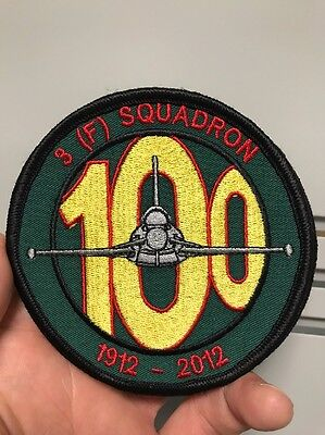 RAF 3 Fighter Squadron 100 Years Embroidered Crest Badge Patch