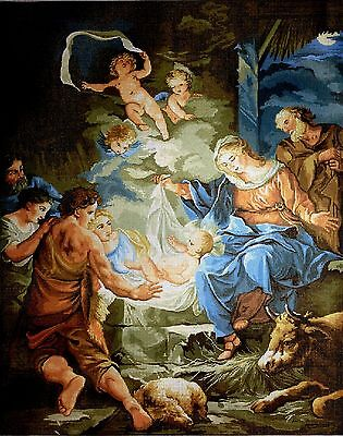 "Gobelin Tapestry Needlepoint Kit ""Nativity""  printed canvas 579"