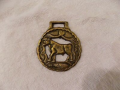 Vintage Brass Horse Medallion Bridle Saddle Ornament