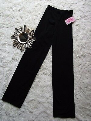 Natalie Dancewear highwaist Black Ballet Hip Hop Jazz Pants Size 12-14 Girls