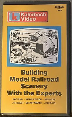 "Kalmbach #15001 ""Building Model Railroad Scenery with the Experts"" VHS Video Tap"