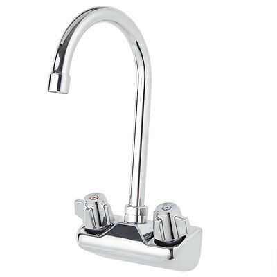 "Regency Low Lead Wall Mount Handsink Faucet with 4"" Centers & 9 1/2"" Gooseneck"