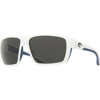 COSTA DEL MAR Hamlin Polarized Sunglasses White & Blue Gray 580G Glass Authentic