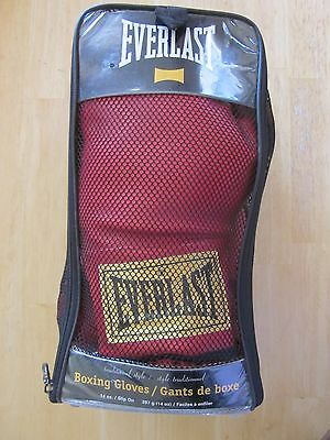 Pair Everlast Traditional Red Boxing Gloves - 14 Oz