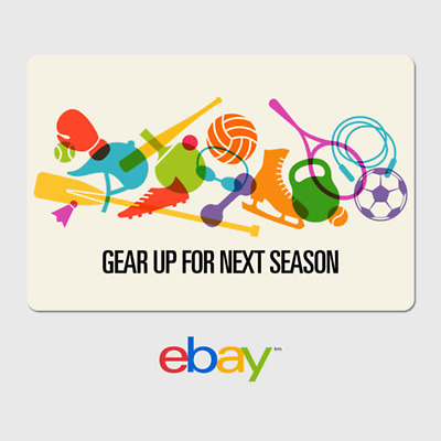 eBay Digital Gift Card - Sports Gear Up-  email delivery