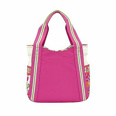 VERA BRADLEY Small Colorblock Tote Shopping Beach Bag - Lilli Bell - NWT