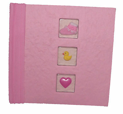 Baby Shower Gift Girl Pink New Born 100 Slip Photo Album 10*15cm slot memo lines