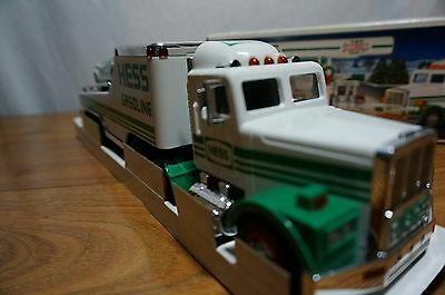 1991 Hess Toy Truck and Racecar with Box MIB Never Used Displayed Only