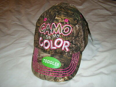 Girl's RealTree hunting fishing hat cap ~ Camo is My Color ~ Toddler size ~ NWT