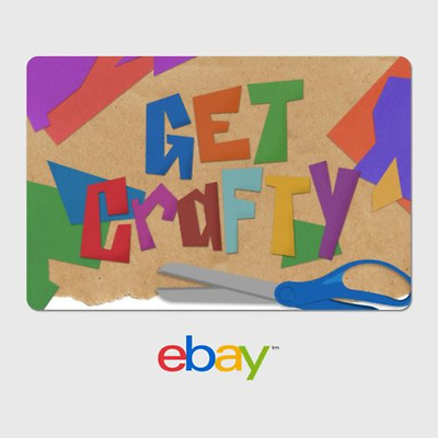 eBay Digital Gift Card - Arts and Crafts - Get Crafty - Email Delivery