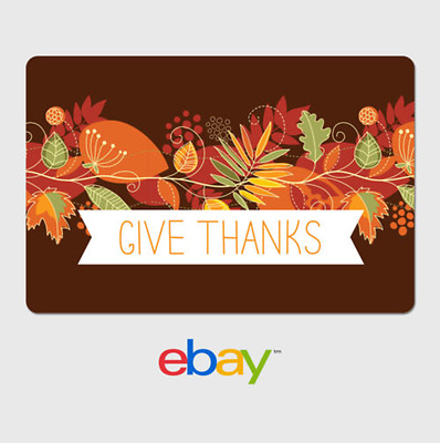 eBay Digital Gift Card - Happy Thanksgiving - Give Thanks - Email Delivery