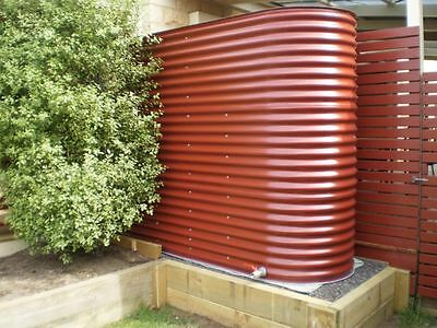 5006 Litre Slimline Colorbond Corrugated Iron Water Tank CFA BAL Rating approved