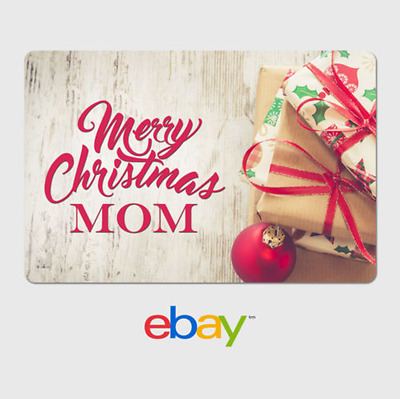 eBay Digital Gift Card - Holiday Parents - Merry Christmas Mom - Email Delivery